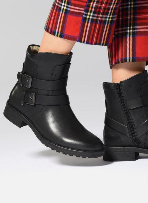 Stiefeletten & Boots Vero Moda VMVILMA LEATHER BOOT schwarz ansicht von unten / tasche getragen