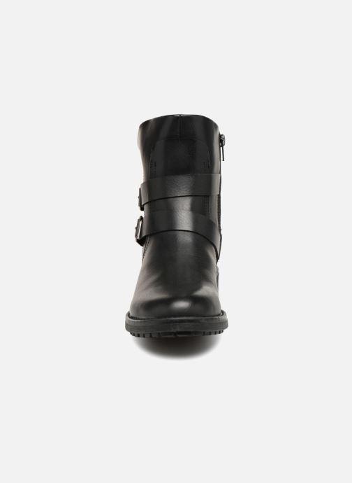 Bottines et boots Vero Moda VMVILMA LEATHER BOOT Noir vue portées chaussures