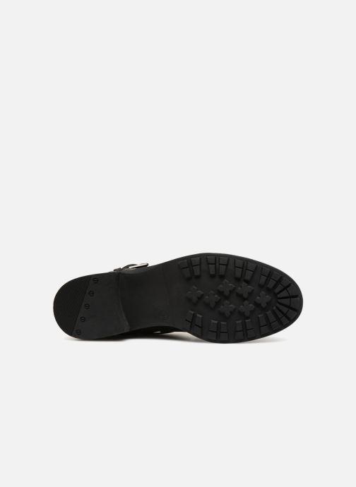 Bottines et boots Vero Moda VMVILMA LEATHER BOOT Noir vue haut