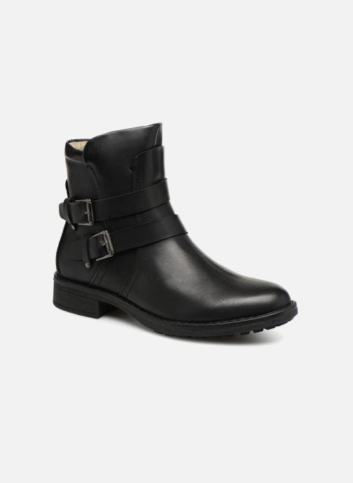 Bottines et boots Vero Moda VMVILMA LEATHER BOOT Noir vue détail/paire