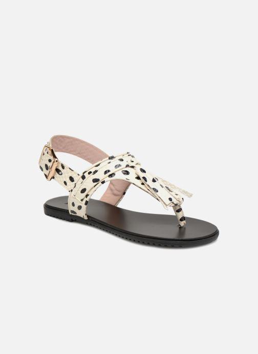 Sandales et nu-pieds L37 Glam Summer Blanc vue détail/paire
