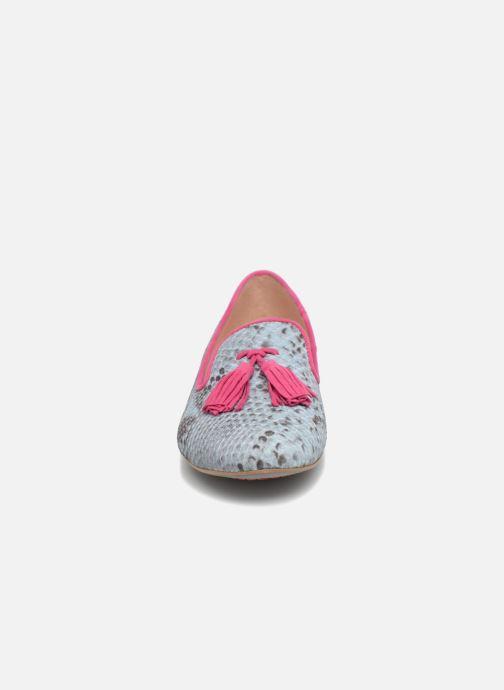 Mocassins L37 Cinderella Bleu vue portées chaussures