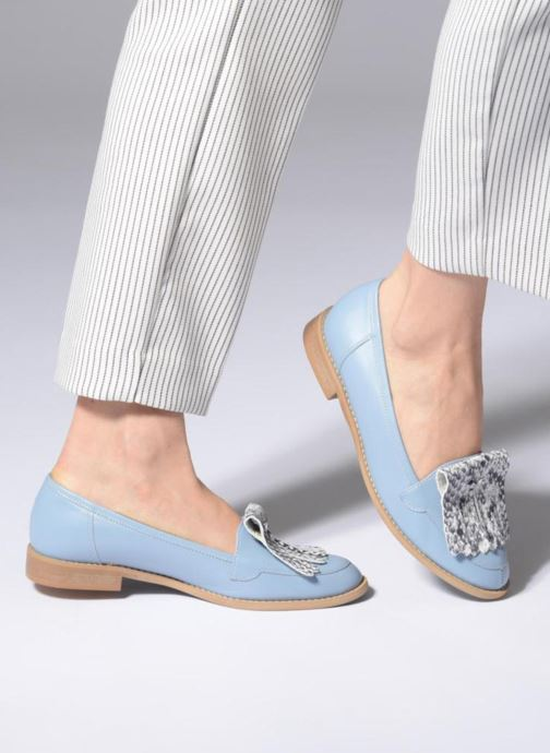 Loafers L37 Loft Moccasins 2 Blue view from underneath / model view