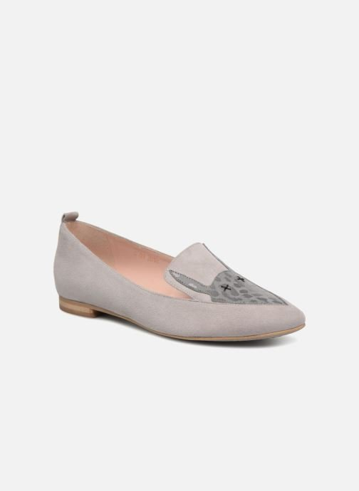 Loafers L37 Miss Giraffe Grey detailed view/ Pair view