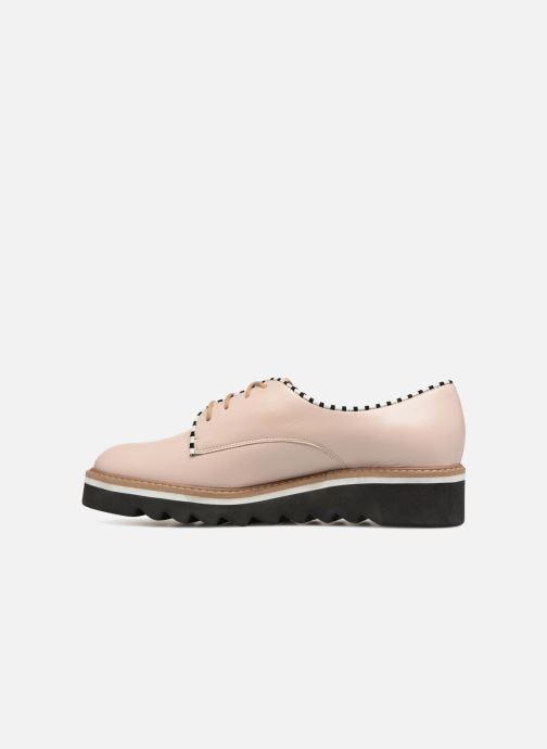 Chaussures à lacets L37 Miss Sky Beige vue face