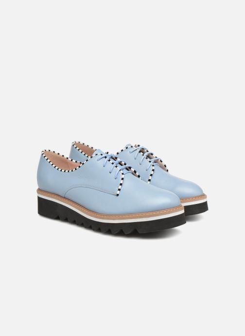 Zapatos con cordones L37 Miss Sky Azul vista 3/4