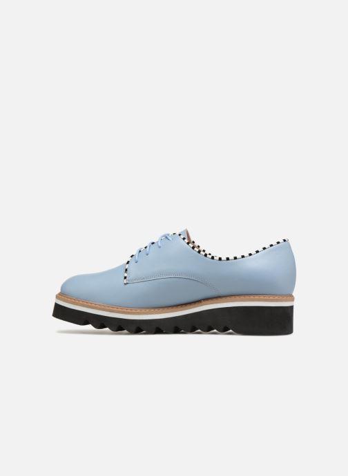 Zapatos con cordones L37 Miss Sky Azul vista de frente