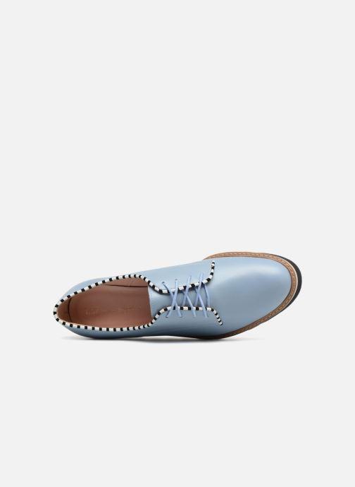 Zapatos con cordones L37 Miss Sky Azul vista lateral izquierda