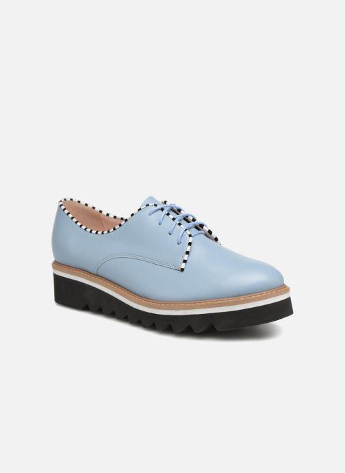 Zapatos con cordones L37 Miss Sky Azul vista de detalle / par