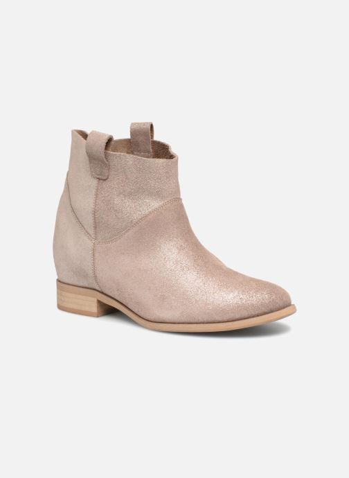 Ankle boots L37 End of Time Up Bronze and Gold detailed view/ Pair view