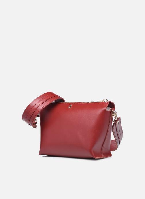 Handtaschen Craie ALCHIMIE weinrot schuhe getragen