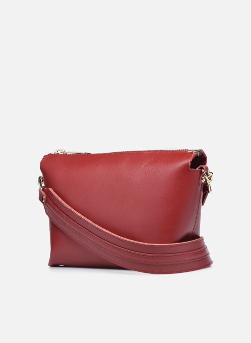 Handtaschen Craie ALCHIMIE weinrot ansicht von rechts