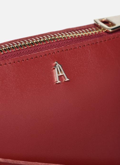 Handtaschen Craie ALCHIMIE weinrot ansicht von links