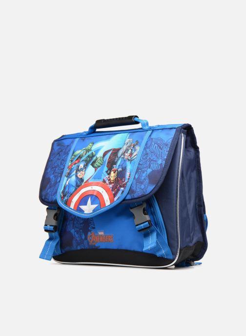 Per la scuola Avengers CARTABLE 38 CM LED Azzurro modello indossato