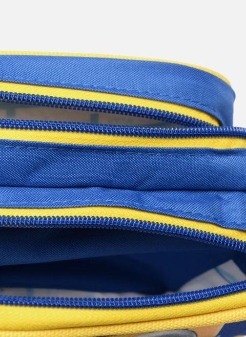 Schooltassen Les Minions TROUSSE 2 COMPARTIMENTS Blauw achterkant