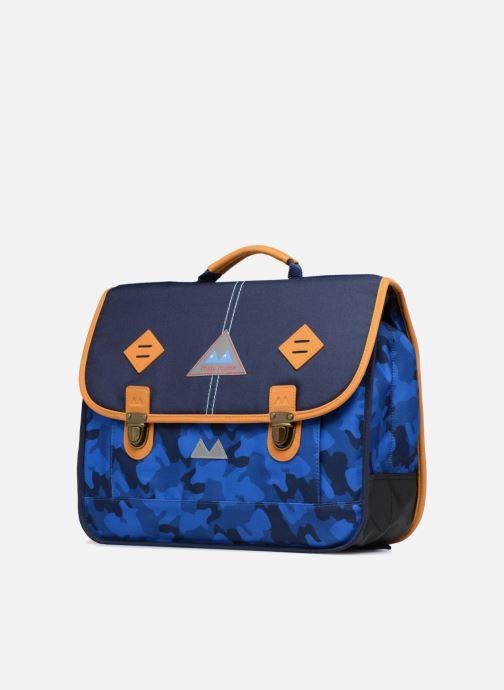 School bags Poids Plume Cartable 38cm Camo Blue model view