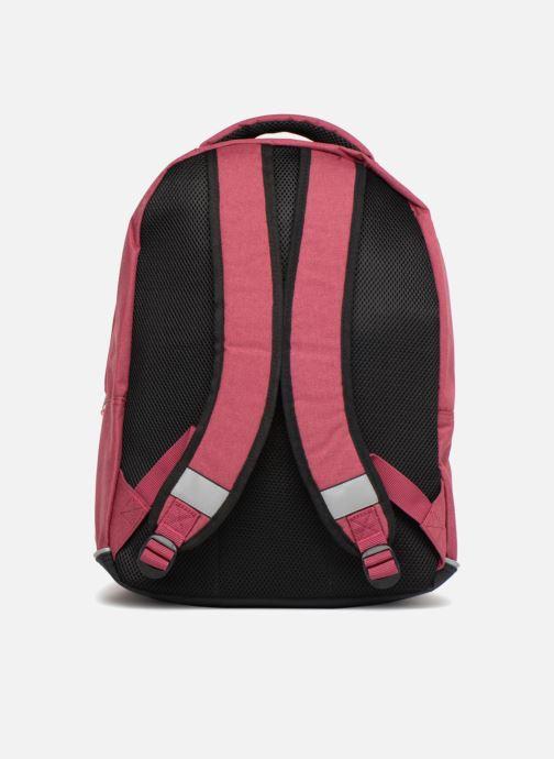 Skoletasker Eggmania by DDP Double Backpack Pink se forfra