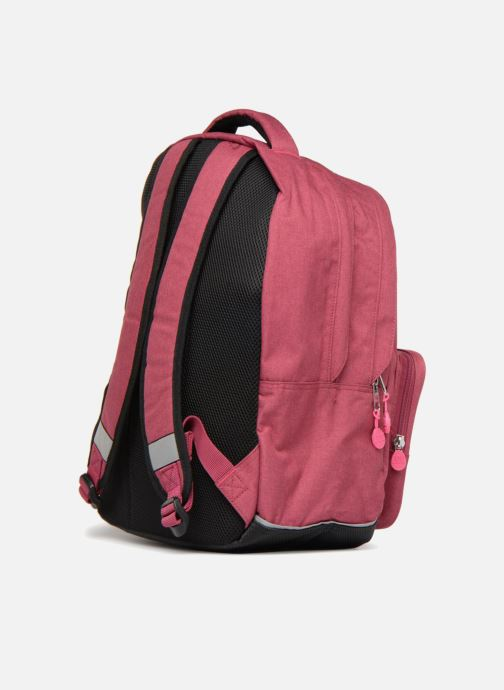 Scolaire Eggmania by DDP Double Backpack Rose vue droite