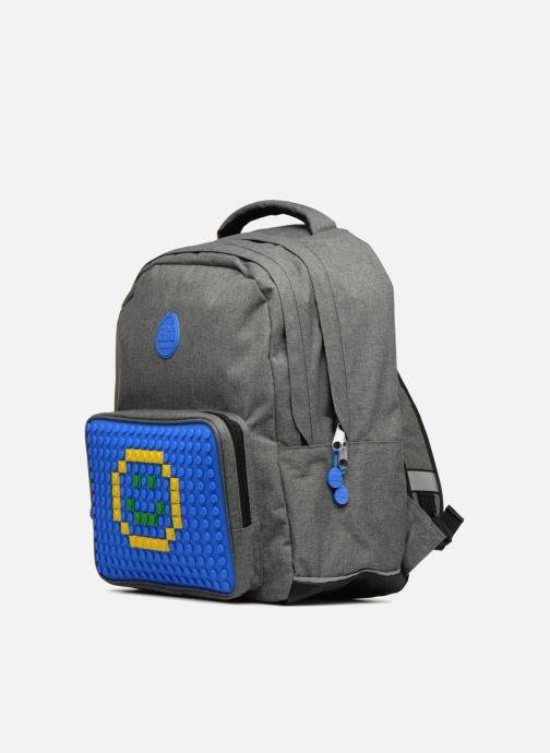 Bandoleras y Colegio Eggmania by DDP Double Backpack Azul vista del modelo