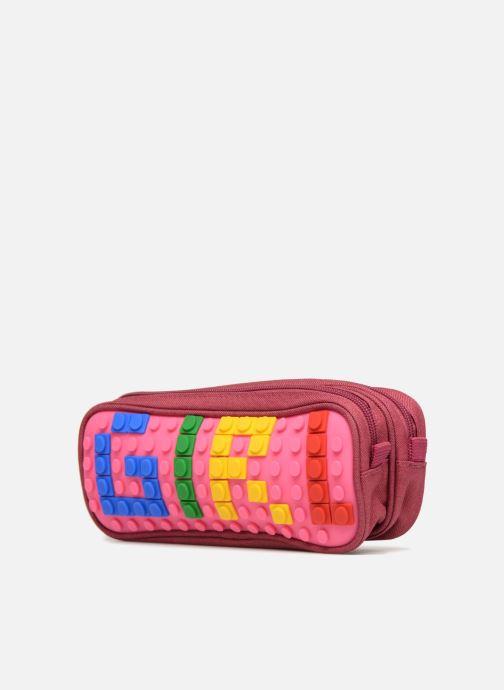 Scolaire Eggmania by DDP Double Pencil Case Rose vue portées chaussures
