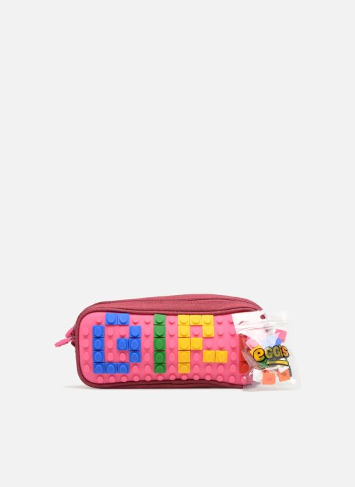 Scolaire Eggmania by DDP Double Pencil Case Rose vue gauche