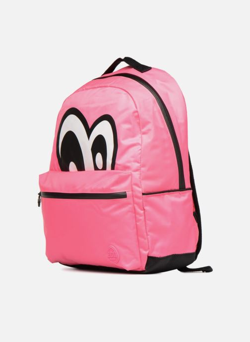 Scolaire Eggmania by DDP Large Eyes Backpack Rose vue portées chaussures