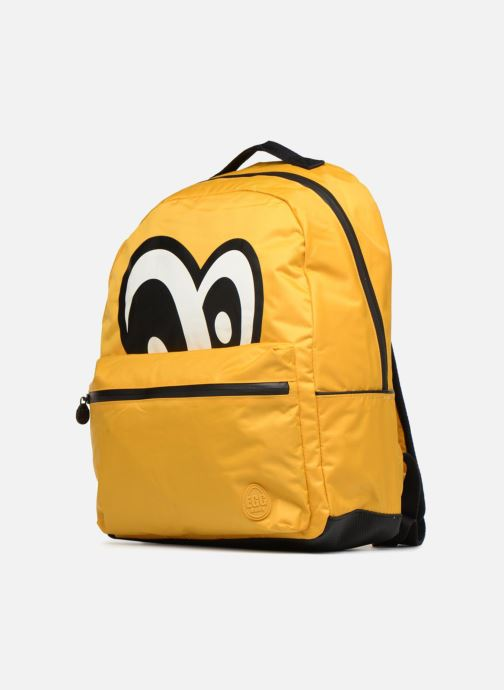 Scolaire Eggmania by DDP Large Eyes Backpack Jaune vue portées chaussures
