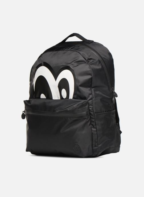 Scolaire Eggmania by DDP Large Eyes Backpack Noir vue portées chaussures