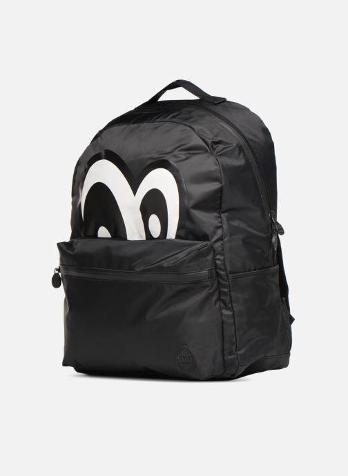 Schulzubehör Eggmania by DDP Large Eyes Backpack schwarz schuhe getragen