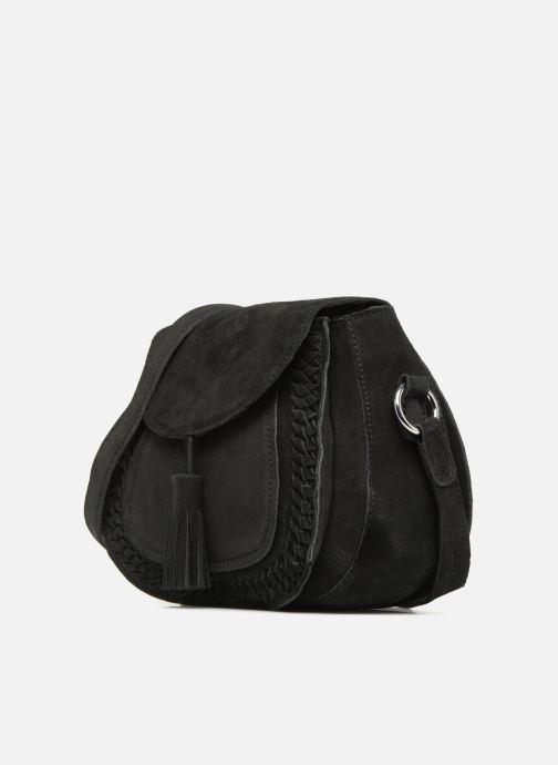 Handtassen Pieces Fedori Suede Crossbody Zwart model