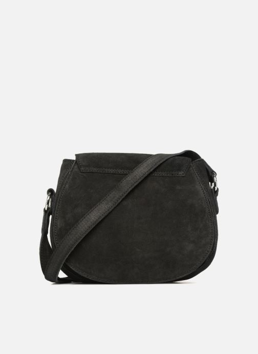 Sacs à main Pieces Fedori Suede Crossbody Noir vue face