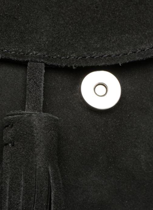 Handtassen Pieces Fedori Suede Crossbody Zwart links