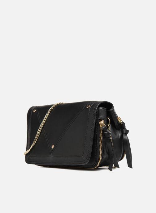 Borse Pieces Face Leather Crossbody Nero modello indossato
