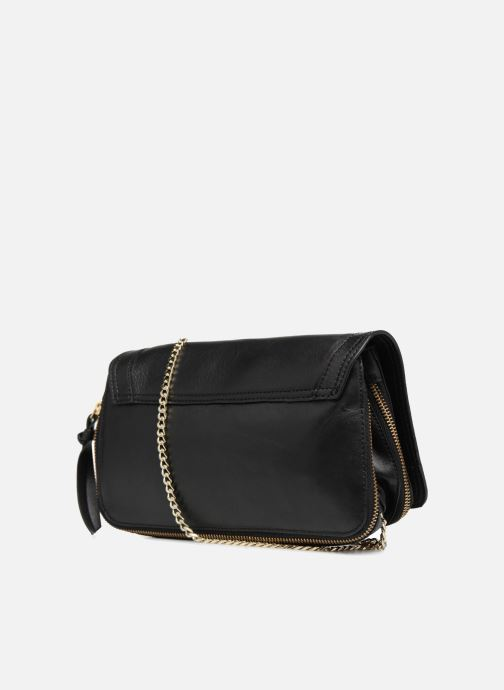 Sacs à main Pieces Face Leather Crossbody Noir vue droite