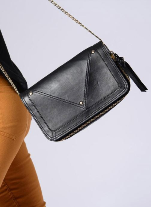 Sacs à main Pieces Face Leather Crossbody Noir vue haut
