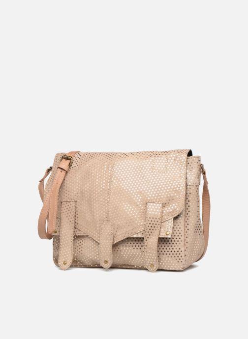 Sacs à main Pieces Joy Leather Bag Beige vue portées chaussures