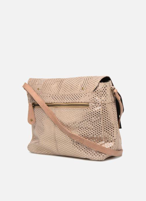 Sacs à main Pieces Joy Leather Bag Beige vue droite