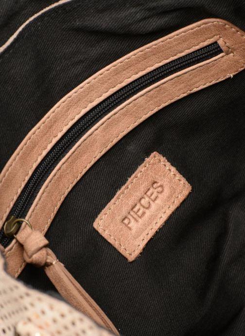 Sacs à main Pieces Joy Leather Bag Beige vue derrière