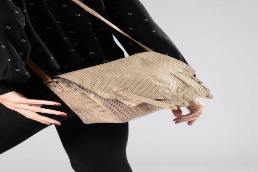 Sacs à main Pieces Joy Leather Bag Or et bronze vue haut