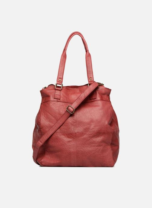 Handbags Pieces Felisha Leather Shopper Burgundy front view
