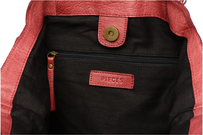 Handbags Pieces Felisha Leather Shopper Burgundy back view