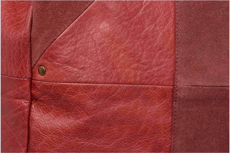 Handbags Pieces Felisha Leather Shopper Burgundy view from the left