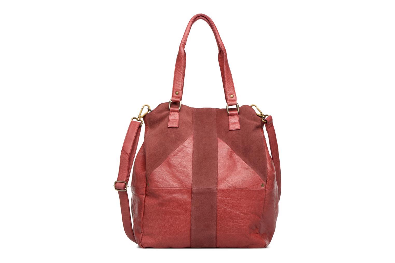 Handbags Pieces Felisha Leather Shopper Burgundy detailed view/ Pair view