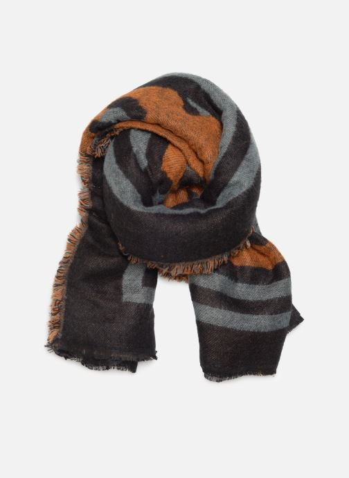 Sjaal Pieces Fleo Square Scarf Bruin detail