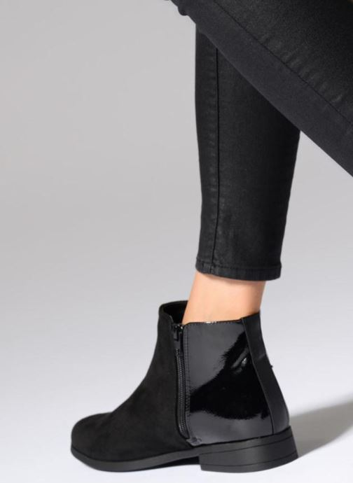 Ankle boots I Love Shoes THIBRA Black view from underneath / model view
