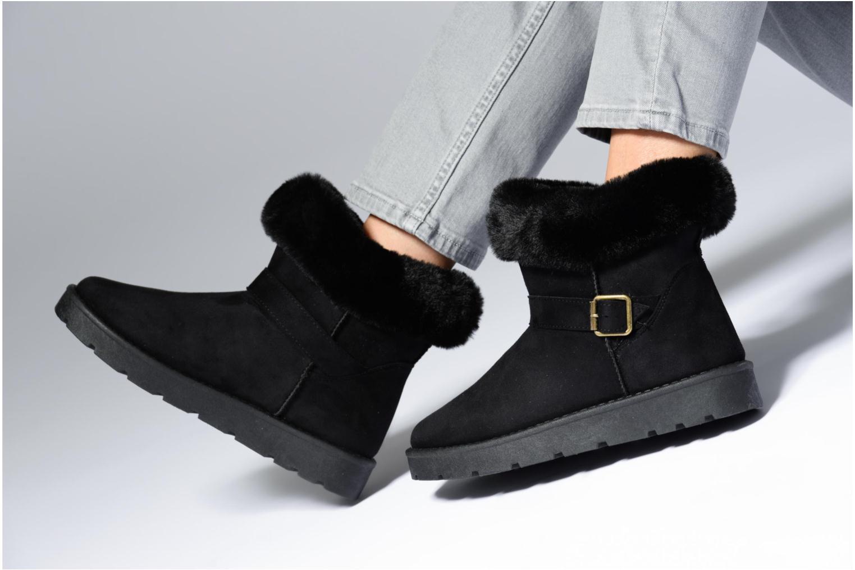 Bottines et boots I Love Shoes THEOCHAUD Noir vue bas / vue portée sac