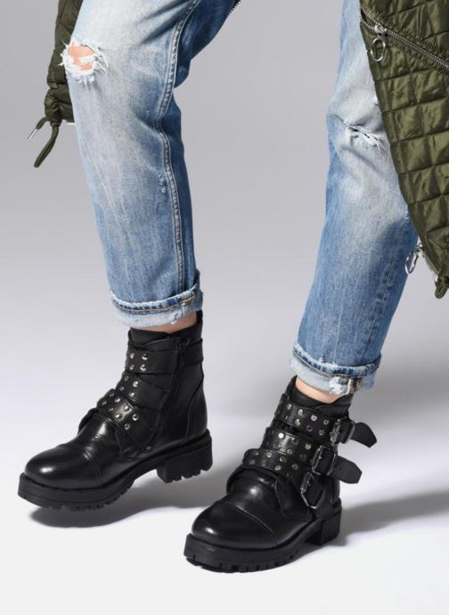 Bottines et boots I Love Shoes THIBOUCLE Leather Noir vue bas / vue portée sac