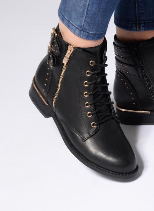 Bottines et boots I Love Shoes THIBOA Noir vue bas / vue portée sac