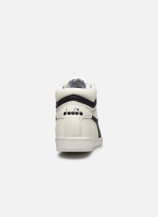 Baskets Diadora GAME L HIGH WAXED Blanc vue droite
