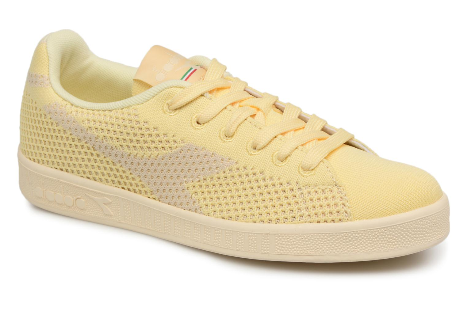 Diadora GAME WEAVE W (Jaune) - Baskets en Más cómodo Chaussures casual sauvages